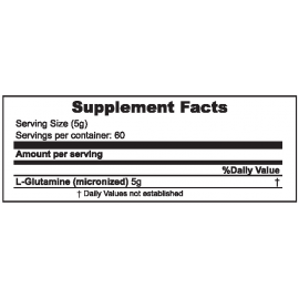 Muscle Core™ Glutamine Supplement Facts