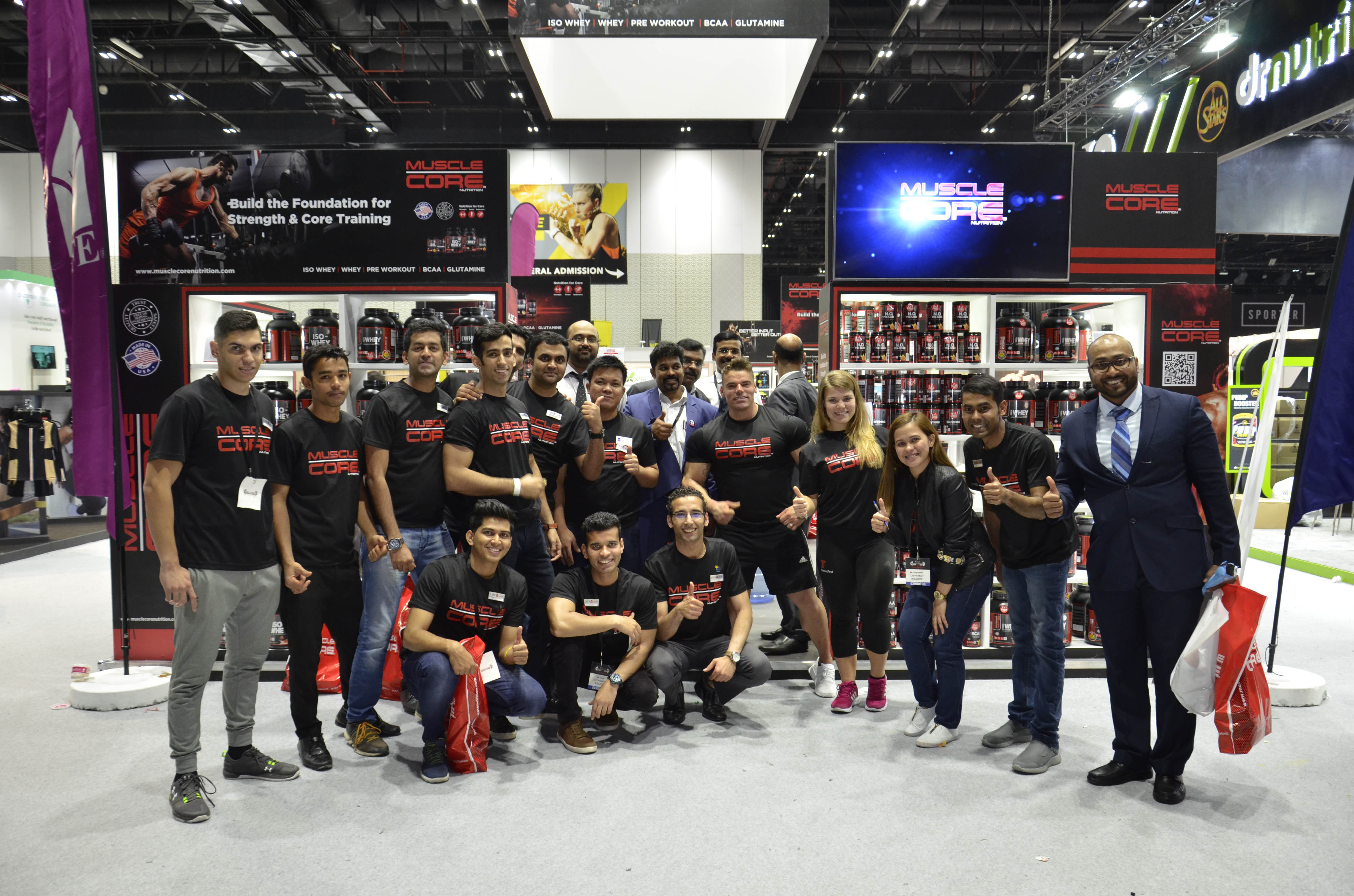 Muscle Core Team at Dubai Muscle Show